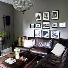 Living Room Ideas With Leather Sofa by 25 Best Gray Living Room Walls Brown Couch Ideas On Pinterest