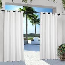 exclusive home indoor outdoor solid cabana grommet top curtain