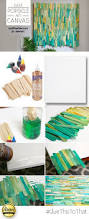 make this cool diy popsicle art using dyed popsicle sticks and