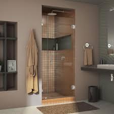dreamline unidoor lux 34 in x 72 in frameless pivot shower door
