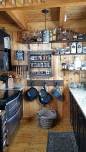 small rustic kitchen ideas i the idea of jars to hold everything much more