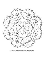 Rangoli Coloring Pages Colouring Patterns  skywarninfo