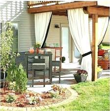 Patio Curtains Outdoor Cheap Patio Curtains Affordable Door Outdoor Living