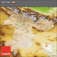 tehran satellite map free satellite map of tehran physical outside