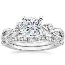 princess cut wedding set princess cut bridal sets wedding ring sets brilliant earth