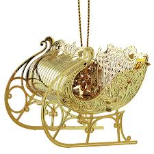 sleigh ornament chemart ornaments solid brass ornament