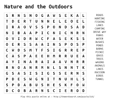 printable word search cing printable nature word search popular nature 2017