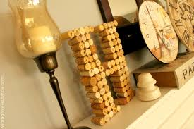 diy wine cork monogram and surprise storage for extra corks