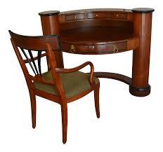 Swedish Secretary Desk by Century Brand Semi Circle Secretary Desk U0026 Chair A Pair Chairish
