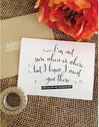 invitation to be a bridesmaid the 25 best ask bridesmaids ideas on asking