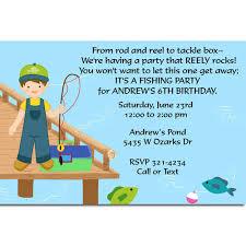 fishing birthday party invitations fish birthday invitations