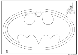 batman logo free printable coloring pages