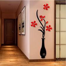 48 120cm vase 3d acrylic three dimensional wall stickers