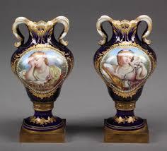 Antique Vases For Sale Pair Of 19th C Jewled Sevres Porcelain Vases For Sale Antiques