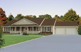 ranch floor plans with front porch front porch on ranch house bedford heights ranch home plan 058d
