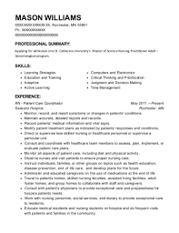jfk hospital rn patient care coordinator resume sle palm