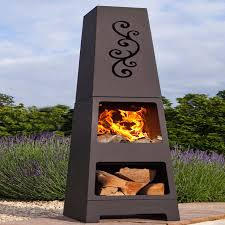 Modern Patio Heater by Manoa Chiminea Patio Heater And Log Store By Oxford Barbecues