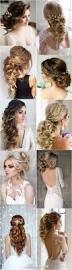 bridal wedding hairstyle for long hair 100 romantic long wedding hairstyles 2018 curls half up updos