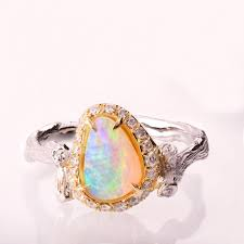 opal and engagement ring opal engagement rings vix