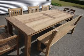Teak Garden Benches Teak Garden Table 260 X 100 Cm Reclaimed Teak Furniture