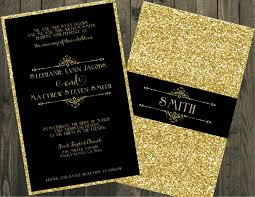 wedding invitations glitter black and gold wedding invitation glitter wedding