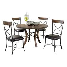 hillsdale cameron dining table hillsdale cameron 5 piece dining set in chestnut brown woods