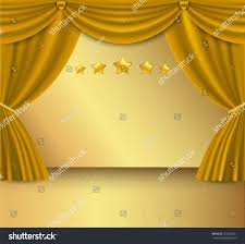Gold Curtain Gold Curtain Background Stock Vector 182966201 Shutterstock