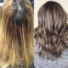 clairol shimmer lights before and after transformation grown out faded blonde to modern metallic career