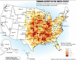 map us usa us tornado alley maps show the tornado risk regions in the usa