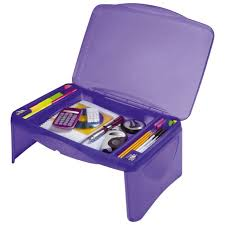 kids portable folding lap desk writing table with storage compartments for pens