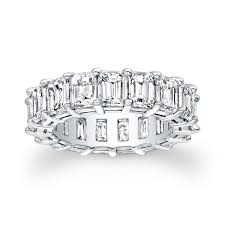 baguette wedding band made baguette eternity shared prong wedding band by evs