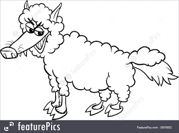 wolf in sheep clothing coloring page illustration