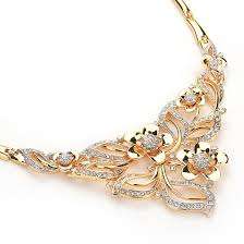 gold costume necklace images Stylish gold plated african costume necklace party wedding women jpg