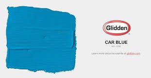 car blue paint color glidden paint colors