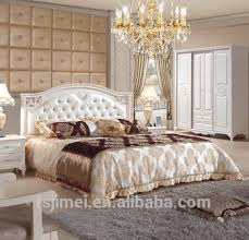 latest cream color soft headboard wedding bedroom set buy