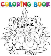 coloring book rabbit theme 2 stock photos freeimages