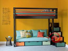 lit superposé avec canapé lit mezzanine avec canapé convertible fixé