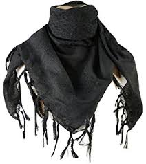 amazon com camcon shemagh scarf one size fits most black