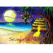 healthy hawaiian christmas cards boxed card hawaiian personalized