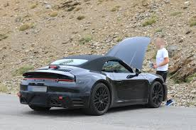 Porsche Cayenne 911 - 2019 porsche 911 cabriolet seen testing with new rear wing auto