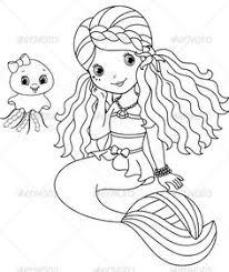 mermaid coloring twisty noodle animal readers