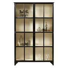 abbyson aussie glass bookcase hayneedle