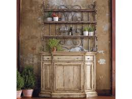 Bakers Rack Shelves Hooker Furniture Wakefield Three Door Three Drawer Distressed