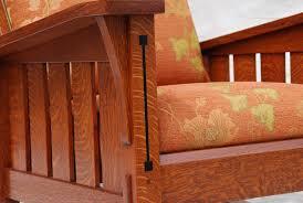 Mission Oak Rocking Chair Voorhees Craftsman Mission Oak Furniture Slant Arm Gustav