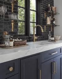 navy blue kitchen cabinets with black handles 10 navy blue cabinets you ll fall in with purewow