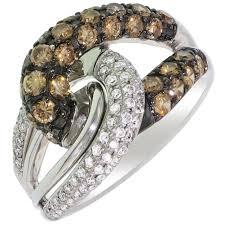 kay jewelers chocolate diamonds le vian natural chocolate and white diamond ring in 14kt white