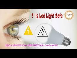 is led light safe is led bulb harmful or is led safe youtube