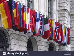 Flag Capital Austria Vienna New Hofburg Facade Detail Flags Europe Town