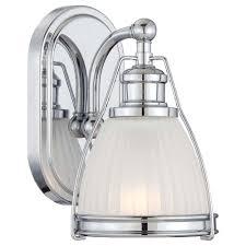minka lavery 1 light chrome bathroom sconce 5791 77 the home depot