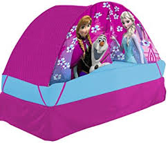 bed tent with light disney frozen bed tent with push light amazon co uk toys games